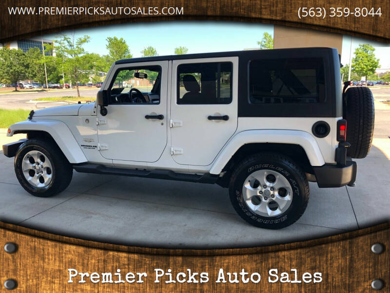 2013 Jeep Wrangler Unlimited for sale at Premier Picks Auto Sales in Bettendorf IA