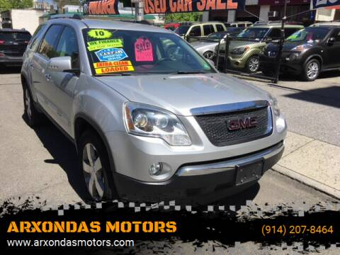 2010 GMC Acadia for sale at ARXONDAS MOTORS in Yonkers NY
