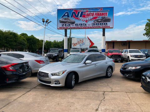 2015 Infiniti Q50 for sale at ANF AUTO FINANCE in Houston TX