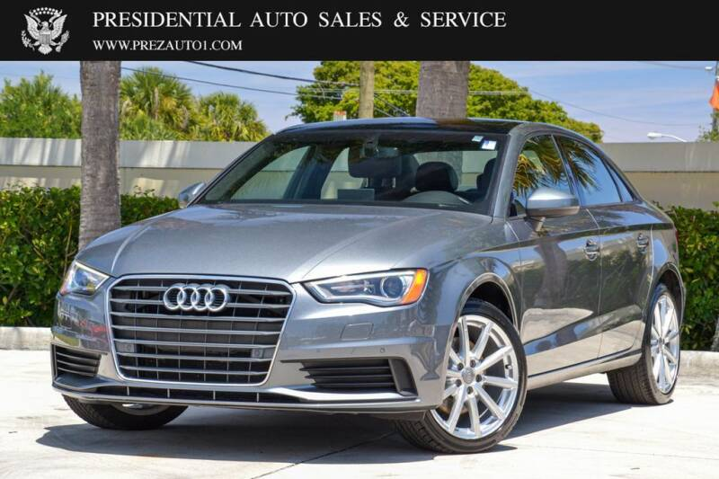 2016 Audi A3 for sale at Presidential Auto  Sales & Service in Delray Beach FL