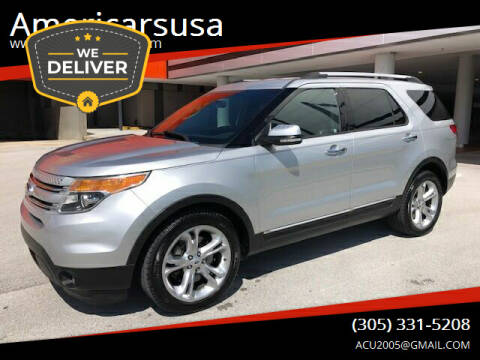 2013 Ford Explorer for sale at Americarsusa in Hollywood FL