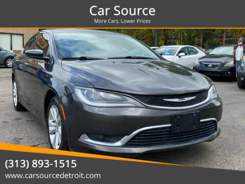 2015 Chrysler 200 for sale at Car Source in Detroit MI