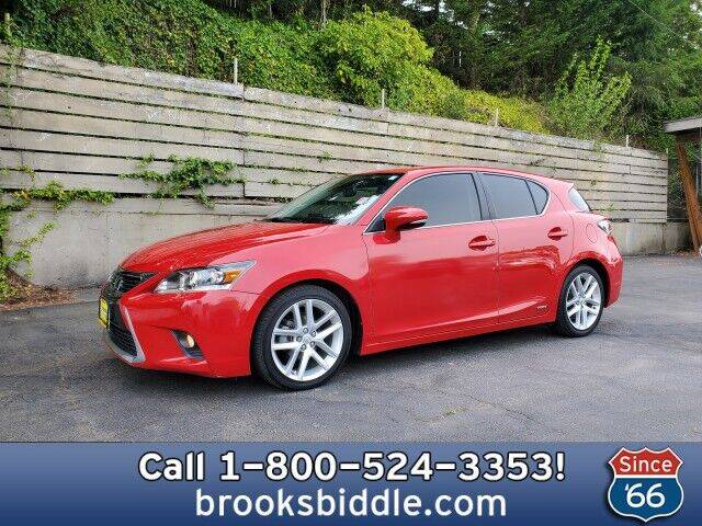 2014 Lexus CT 200h for sale at BROOKS BIDDLE AUTOMOTIVE in Bothell WA