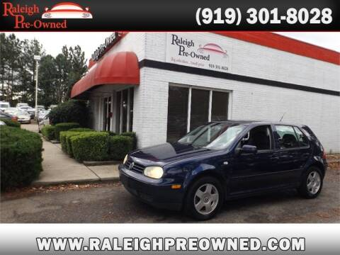 2002 Volkswagen Golf for sale at Raleigh Pre-Owned in Raleigh NC