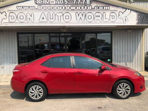 2017 Toyota Corolla for sale at Don Auto World in Houston TX