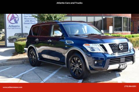2017 Nissan Armada for sale at Atlanta Cars and Trucks in Kennesaw GA