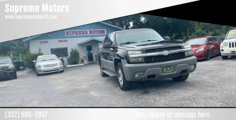 2002 Chevrolet Avalanche for sale at Supreme Motors in Tavares FL