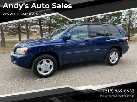 2005 Toyota Highlander for sale at Andy's Auto Sales in Hibbing MN