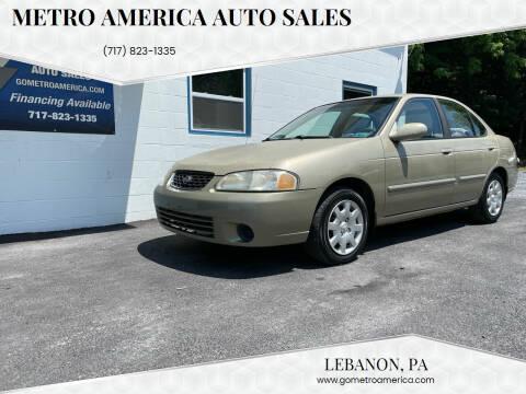 2001 Nissan Sentra for sale at METRO AMERICA AUTO SALES of Lebanon in Lebanon PA