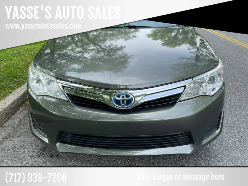 2012 Toyota Camry Hybrid for sale at YASSE'S AUTO SALES in Steelton PA