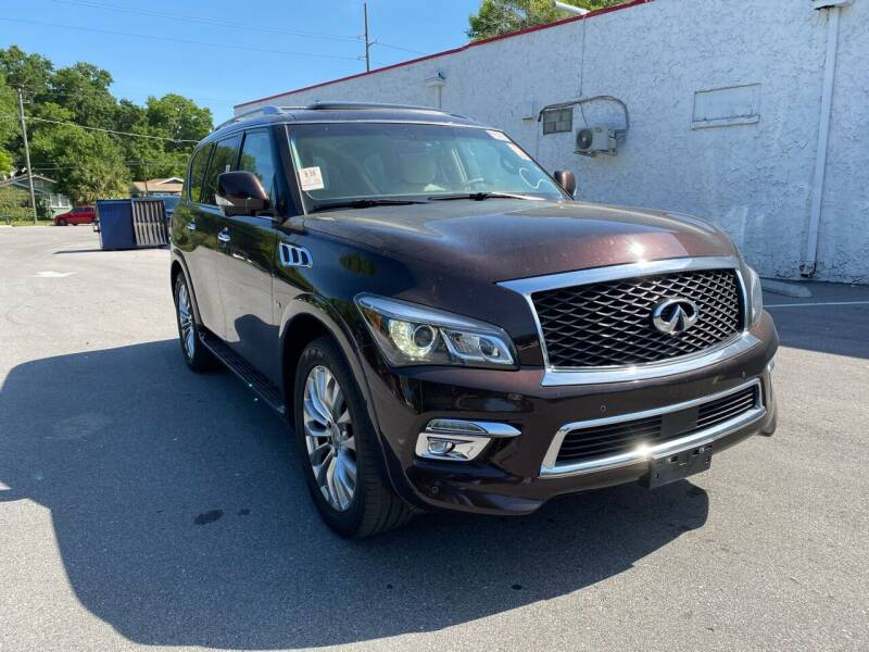 2015 Infiniti QX80 for sale at Consumer Auto Credit in Tampa FL