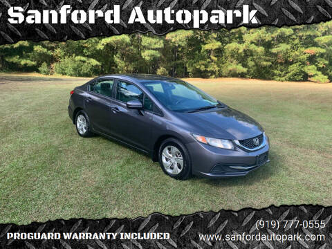 2015 Honda Civic for sale at Sanford Autopark in Sanford NC