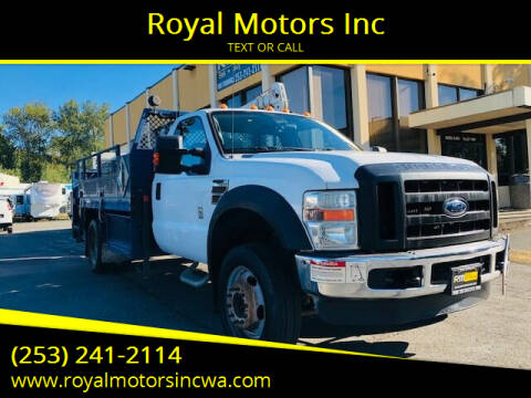 2010 Ford F-550 Super Duty for sale at Royal Motors Inc in Kent WA
