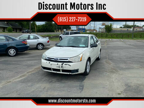 2010 Ford Focus for sale at Discount Motors Inc in Nashville TN