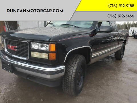 1998 GMC Sierra 1500 for sale at DuncanMotorcar.com in Buffalo NY