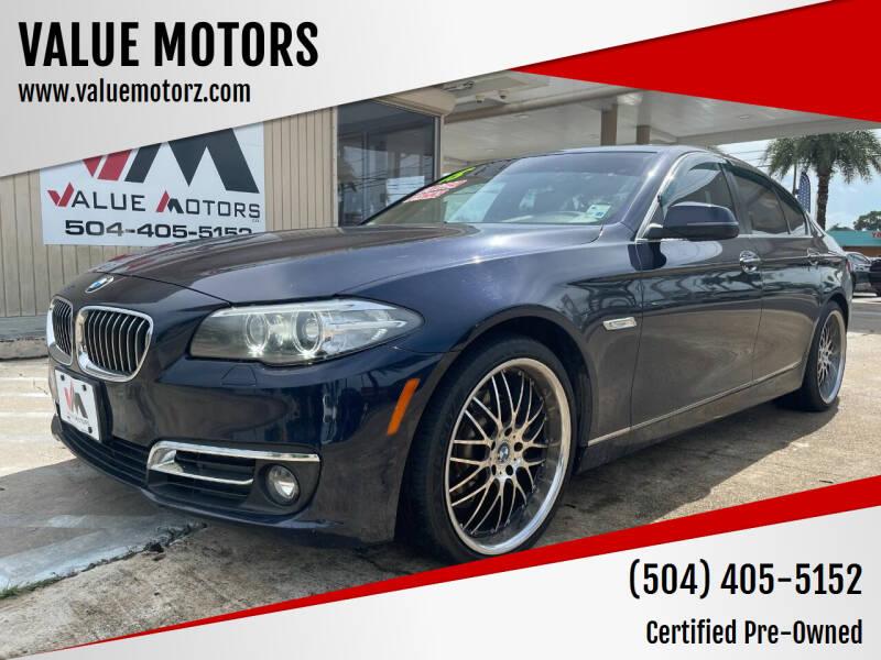 2015 BMW 5 Series for sale at VALUE MOTORS in Kenner LA