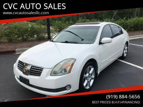 2005 Nissan Maxima for sale at CVC AUTO SALES in Durham NC
