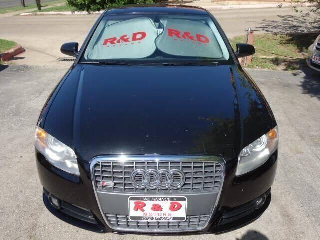 2007 Audi A4 AWD 2.0T quattro 4dr Sedan (2L I4 6A) w/ S line Package - Austin TX