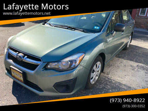 2014 Subaru Impreza for sale at Lafayette Motors in Lafayette NJ