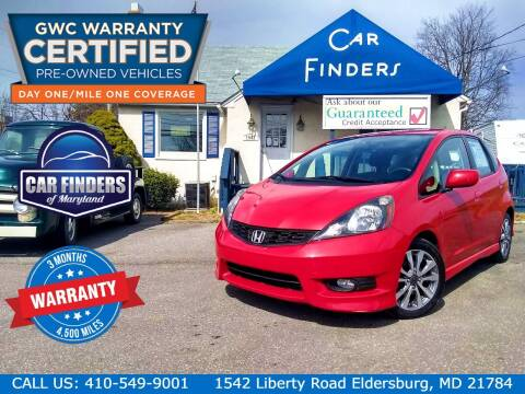 2013 Honda Fit for sale at CAR FINDERS OF MARYLAND LLC - Certified Cars in Eldersburg MD