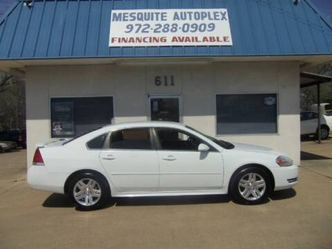 2012 Chevrolet Impala for sale at MESQUITE AUTOPLEX in Mesquite TX