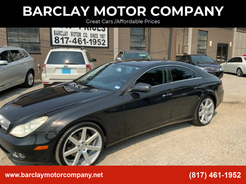 2009 Mercedes-Benz CLS for sale at BARCLAY MOTOR COMPANY in Arlington TX