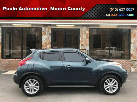2013 Nissan JUKE for sale at Poole Automotive in Laurinburg NC
