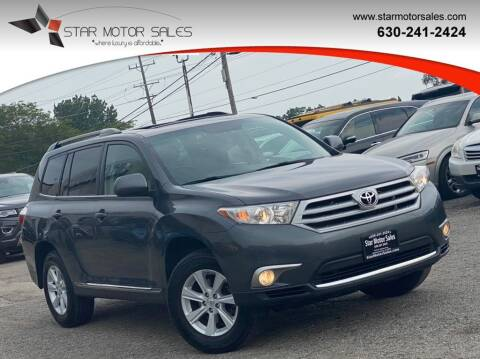 2013 Toyota Highlander for sale at Star Motor Sales in Downers Grove IL