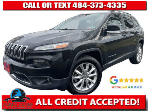 2015 Jeep Cherokee for sale at World Class Auto Exchange in Lansdowne PA