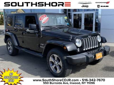2016 Jeep Wrangler Unlimited for sale at South Shore Chrysler Dodge Jeep Ram in Inwood NY