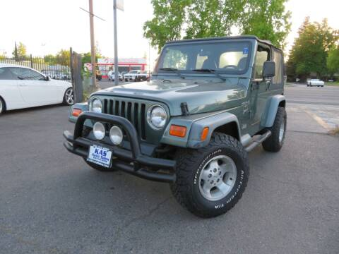 2000 Jeep Wrangler for sale at KAS Auto Sales in Sacramento CA