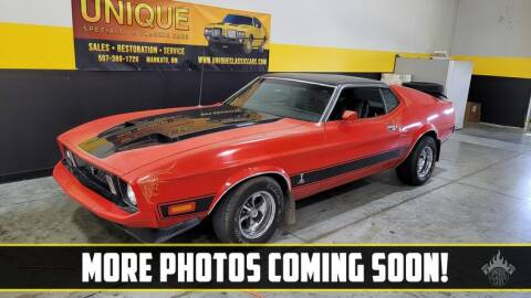 1973 Ford Mustang for sale at UNIQUE SPECIALTY & CLASSICS in Mankato MN