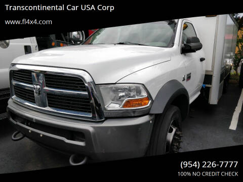 2011 RAM Ram Chassis 5500 for sale at Transcontinental Car USA Corp in Fort Lauderdale FL