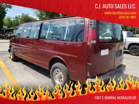 2000 Chevrolet Express Passenger for sale at C.J. AUTO SALES llc. in San Antonio TX