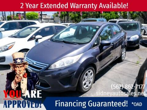2012 Ford Fiesta for sale at Sidney Auto Sales in Downey CA
