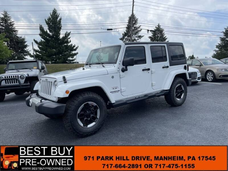 2016 Jeep Wrangler Unlimited for sale at Best Buy Pre-Owned in Manheim PA