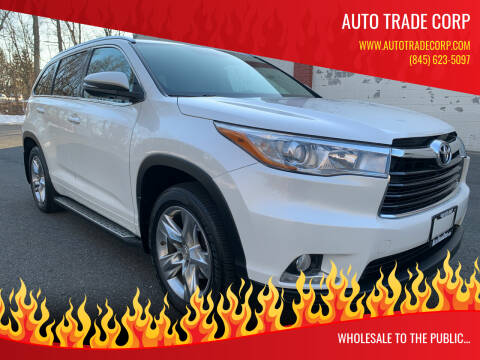2014 Toyota Highlander for sale at AUTO TRADE CORP in Nanuet NY