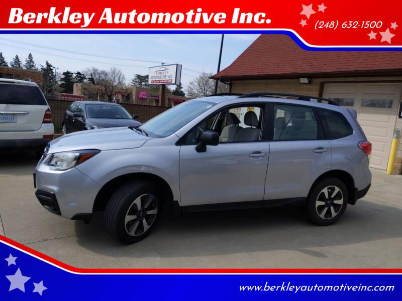 2018 Subaru Forester for sale at Berkley Automotive Inc. in Berkley MI
