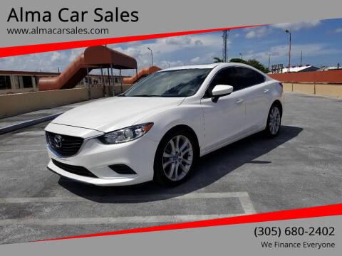 2016 Mazda MAZDA6 for sale at Alma Car Sales in Miami FL