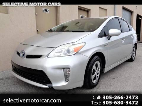 2013 Toyota Prius for sale at Selective Motor Cars in Miami FL