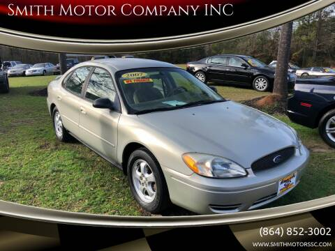 2007 Ford Taurus for sale at Smith Motor Company INC in Mc Cormick SC