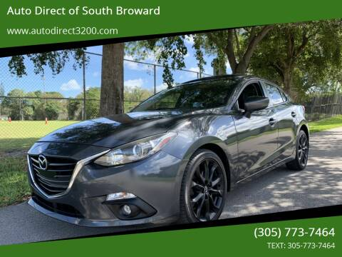 2016 Mazda MAZDA3 for sale at Auto Direct of South Broward in Miramar FL