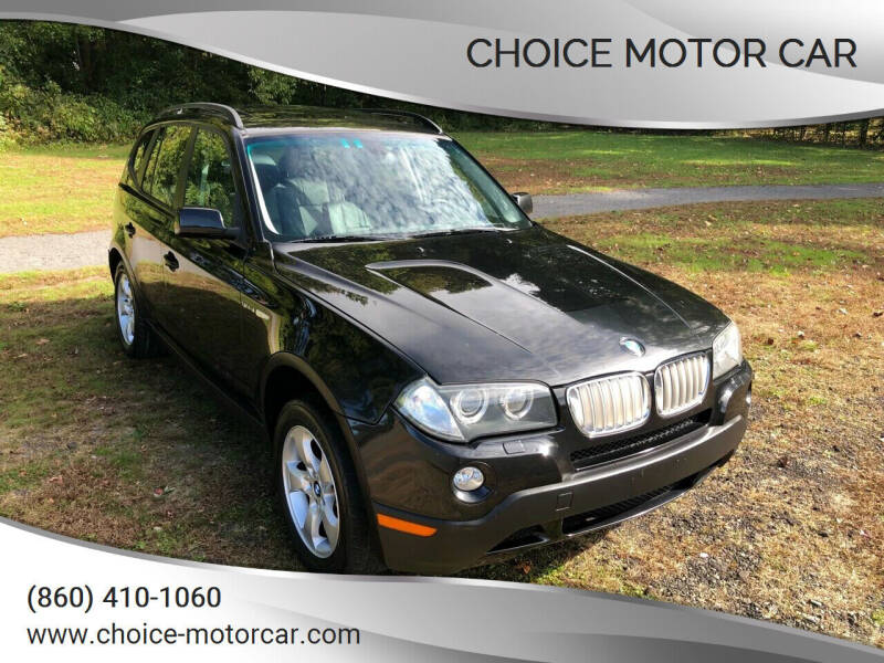 2007 BMW X3 for sale at Choice Motor Car in Plainville CT