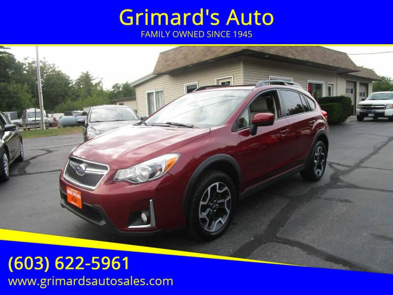 2016 Subaru Crosstrek for sale at Grimard's Auto in Hooksett NH