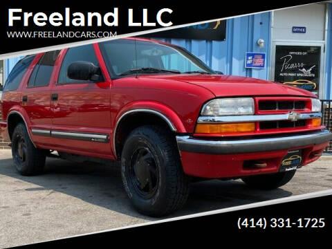 2001 Chevrolet Blazer for sale at Freeland LLC in Waukesha WI