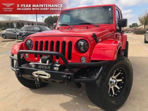 2015 Jeep Wrangler Unlimited for sale at European Motors Inc in Plano TX