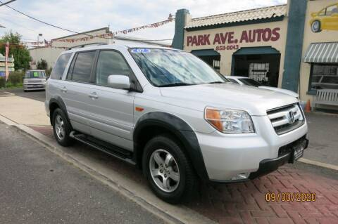 2007 Honda Pilot for sale at PARK AVENUE AUTOS in Collingswood NJ