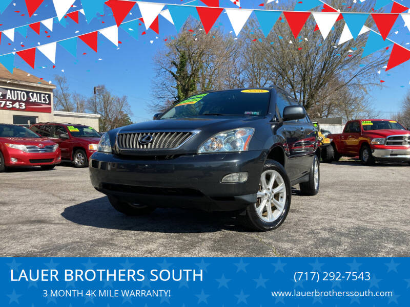 2008 Lexus RX 350 for sale at LAUER BROTHERS SOUTH in York PA