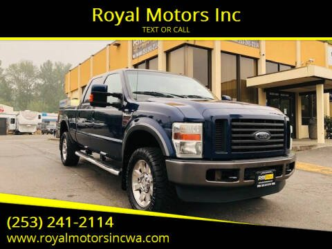 2008 Ford F-350 Super Duty for sale at Royal Motors Inc in Kent WA