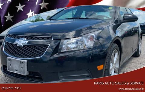 2014 Chevrolet Cruze for sale at Paris Auto Sales & Service in Big Rapids MI